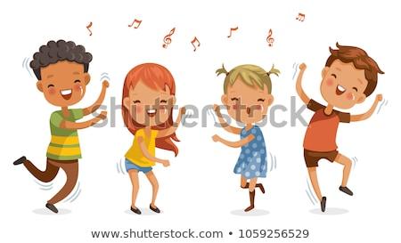 Gyermek tánc boldog játszik gyerekek modell Stock fotó © godfer