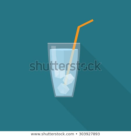 Glass with ice cubes Stock photo © karandaev