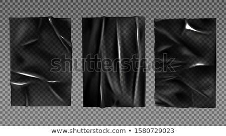 creased thermoplastic foil Stock photo © prill
