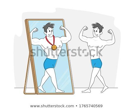 Test nagy érem közelkép kilátás nő Stock fotó © ssuaphoto