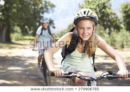 Mountain bike floresta esportes verão bicicleta Foto stock © photography33