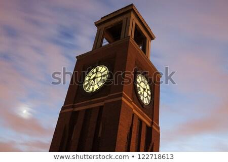 Foto stock: Relógio · torre · Chicago · norte · lado