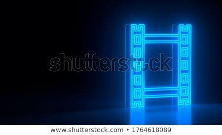 filme · ícone · escuro · azul · isolado · preto - foto stock © zeffss