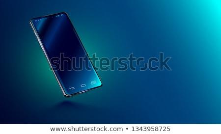 modern phone on glass desk Stock photo © gewoldi