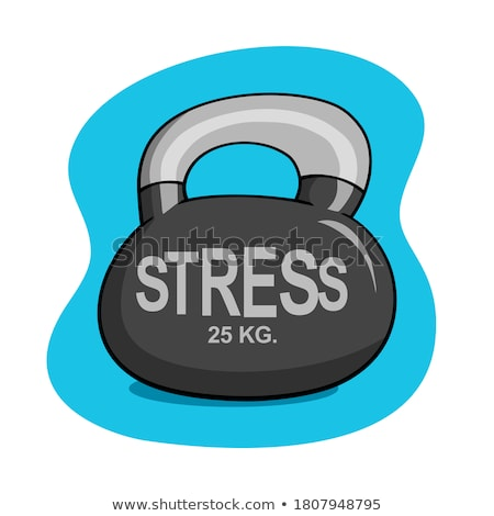 Illustration of stress word Stock photo © Julvil