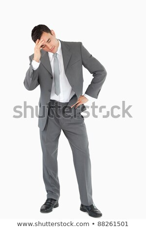 Businessman experiencing a setback against a white background Stock photo © wavebreak_media