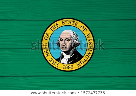 flag of US state of washington on grunge wooden texture painted  Stock photo © vepar5