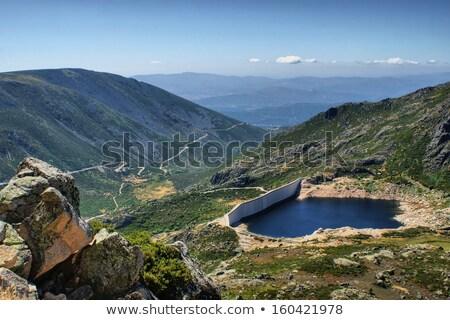 Portekiz ev kar arka plan çöl kaya Stok fotoğraf © inaquim