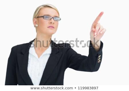 işkadını · işaret · hava · bakıyor · kadın - stok fotoğraf © wavebreak_media