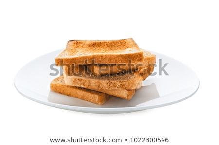 Geroosterd brood plaat knoflookbrood voedsel Stockfoto © travelphotography