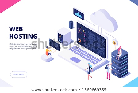 Hosting internet technologie Blauw communicatie planeet Stockfoto © 4designersart