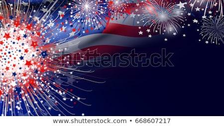Absztrakt negyedike háttér zászló csillag szabadság Stock fotó © rioillustrator