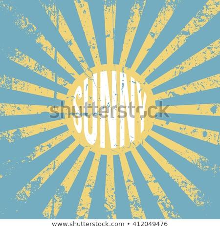 Grunge sunrise background Stock photo © leonido