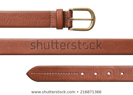 現代 ブラウン 革 ベルト 白 ファッション ストックフォト © serpla