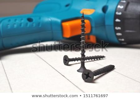 Gipsplaten schroef hout metaal kleur Stockfoto © luminastock