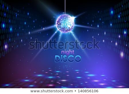 Wektora disco ball świetle disco niebieski noc Zdjęcia stock © zzve