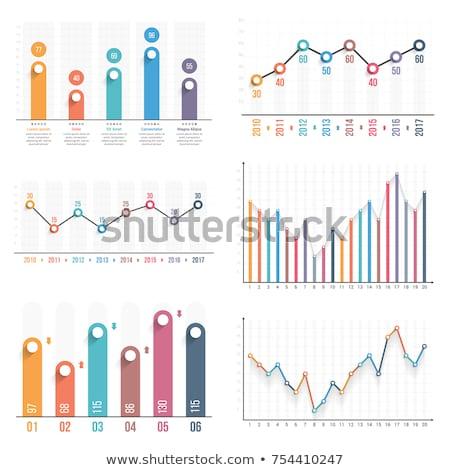 Gráfico seta subir clip-art Foto stock © zzve
