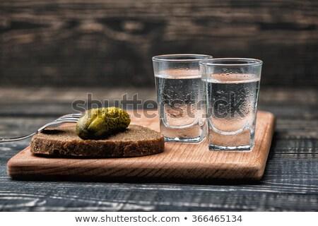 Tiro gafas frío vodka tres cola Foto stock © tarczas
