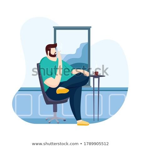ビジネスマン · 喫煙 · 秘密 · サーベイランス · 写真 · 白人 - ストックフォト © feedough