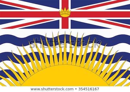 bayrak · İngilizler · Kanada · örnek · harita · tahta - stok fotoğraf © flogel