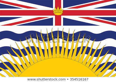 флаг · британский · Канада · иллюстрация · карта · совета - Сток-фото © flogel