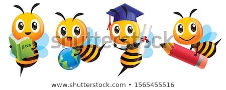 Cartoon Bee вектора фон птица Kid Сток-фото © serdjo