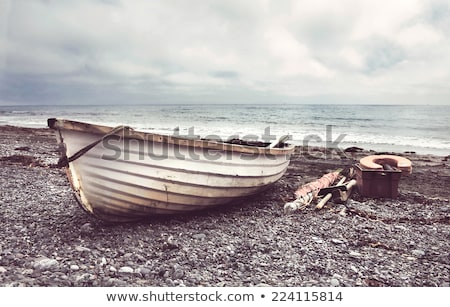 vissen · boten · zandstrand · zand · strand · hemel - stockfoto © kmwphotography