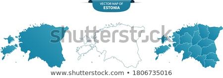 черный Эстония карта административный республика аннотация Сток-фото © Volina