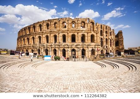 The historic El Jem Roman Coliseum in Tunisia. Stock photo © latent