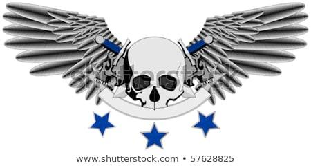 человека · череп · логотип · Мечи · Элементы · изолированный - Сток-фото © Miloushek