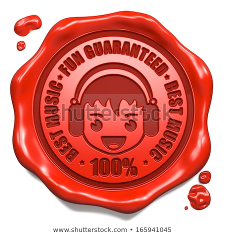 Jókedv garantált piros viasz fóka jelmondat Stock fotó © tashatuvango