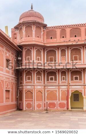 Wieża miasta pałac kompleks centrum różowy Zdjęcia stock © faabi