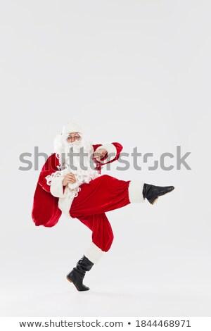 Noel baba el doğru beyaz yüz adam Stok fotoğraf © fotoatelie