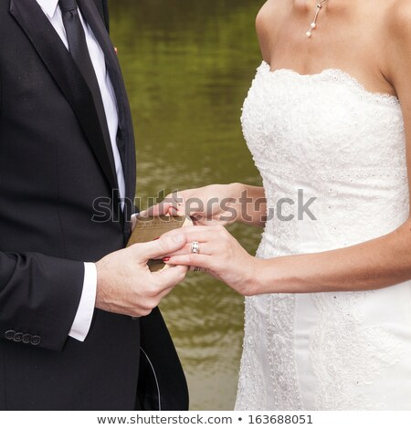 wedding couple are swearing lifetime loyality Stock photo © meinzahn
