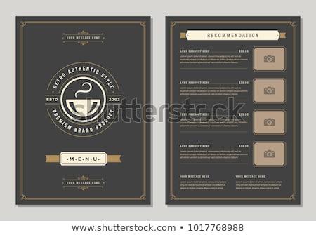 Vecteur café flyer bureau café résumé Photo stock © rioillustrator