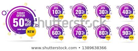 30 por ciento promoción vector negocios resumen Foto stock © burakowski