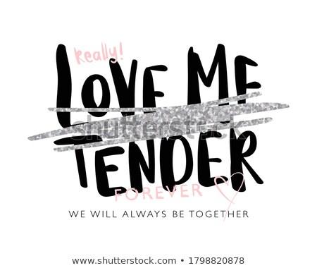 Amor para sempre elegante belo texto projeto Foto stock © bharat