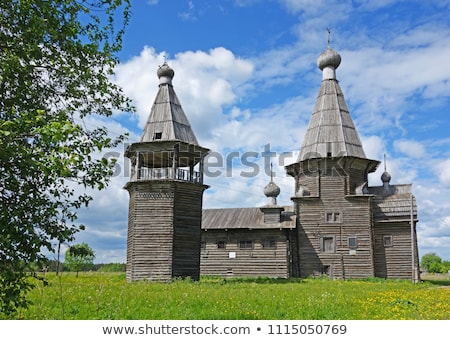 Vecchio russo legno chiesa architettura cielo Foto d'archivio © Mikko