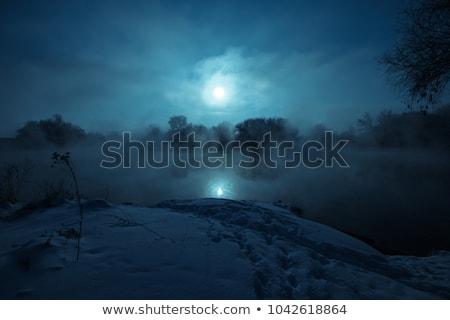 światło księżyca rzeki niebo wody morza przestrzeni Zdjęcia stock © mycola