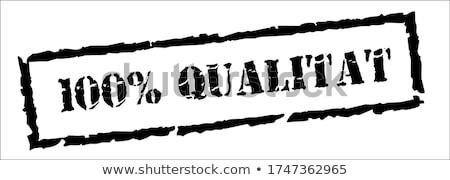 100 qualitat stamp stock photo © burakowski