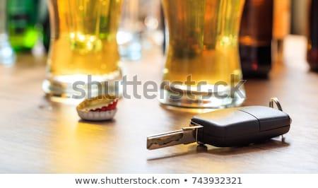 içme · sürücü · araba · anahtarları · alkol · yol · bira - stok fotoğraf © unikpix