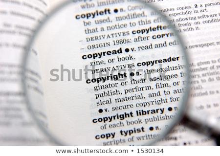 Szerzői jog szótár meghatározás szó puha fókusz Stock fotó © chris2766