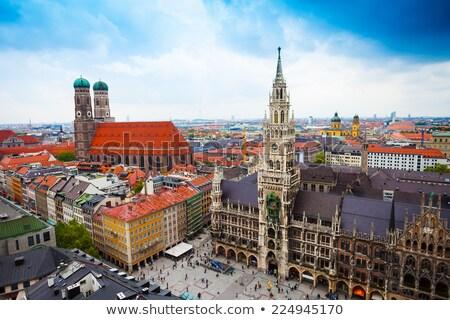Légifelvétel katedrális München torony szent templom Stock fotó © faabi