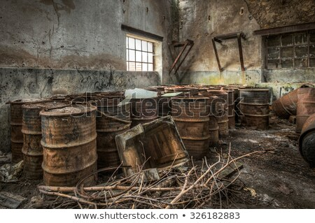 Old and abandoned urban factory Stock photo © konradbak