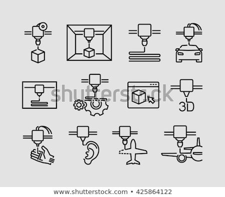 3d print icon Stock photo © Yuriy