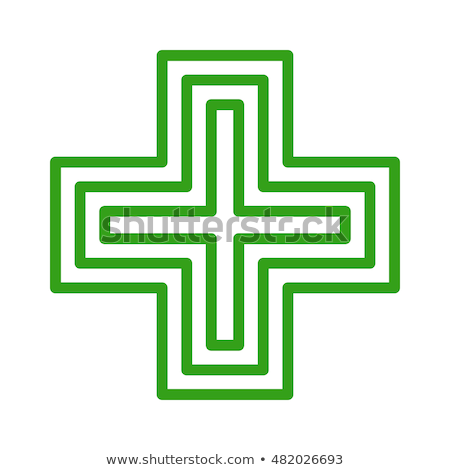 Pharmacie signe design illustration isolé blanche Photo stock © hayaship