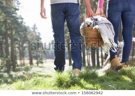 para · piknik · kobieta · niebo · człowiek - zdjęcia stock © monkey_business