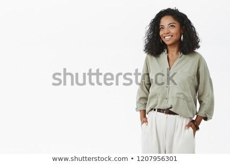 女性実業家 · 楽しく · 孤立した - ストックフォト © dgilder