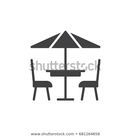 cafe flat single icon stock photo © smoki