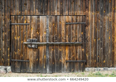 Stock photo: Wooden planks wall vertical background.